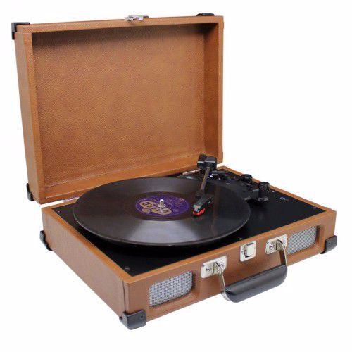 Soundmaster platenspeler PL580BR (Bruin)