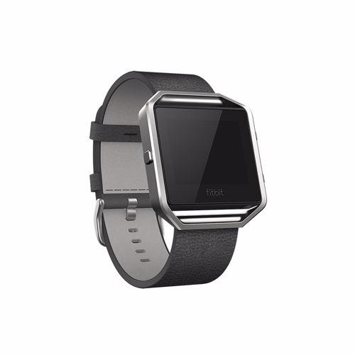 Fitbit Blaze Polsband Leather Black S