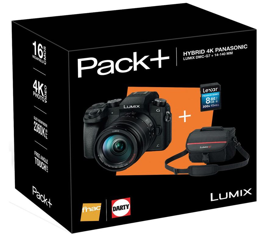Panasonic systeemcamera DMC G7H 14 140MM INCL TAS 8GB SD KAART