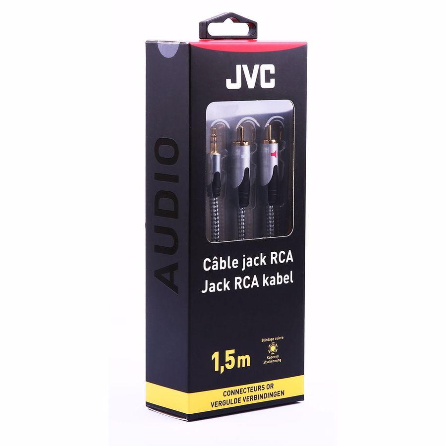 JVC analoge audiokabel JACK 3.5MM/2RCA 1.5M