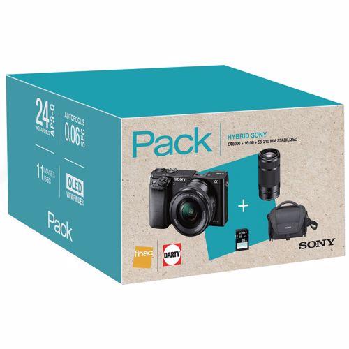 Sony systeemcamera A6000 16 50+55 210mmincl. tas 8GB SD kaart