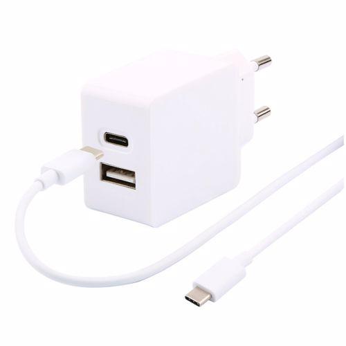 Temium lader met USB A en USB C poort