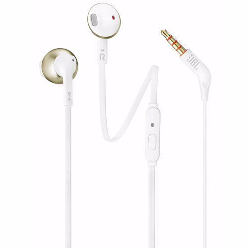 JBL in-ear hoofdtelefoon Tune 205 T205 (Wit, Goud)