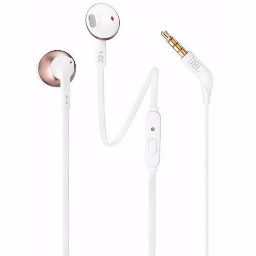 JBL in-ear hoofdtelefoon Tune 205 T205 (Wit, Rosé Goud)
