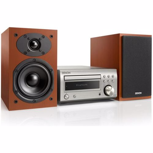 Denon microset D-M41 (Zilver/Cherry wood speakers)