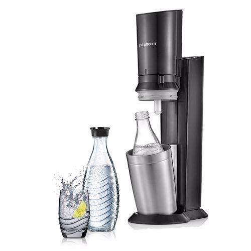 SodaStream soda maker + 2 karaffen Crystal (Zwart)