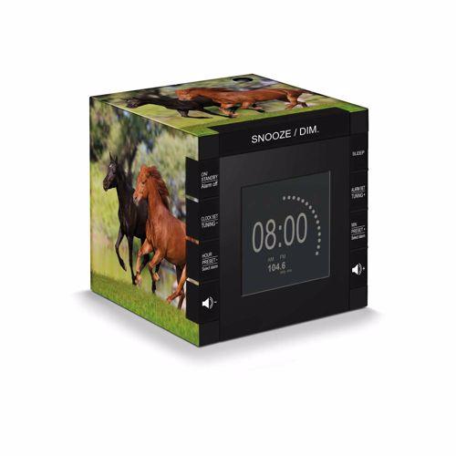 BigBen wekkerradio met tijdprojectie paarden