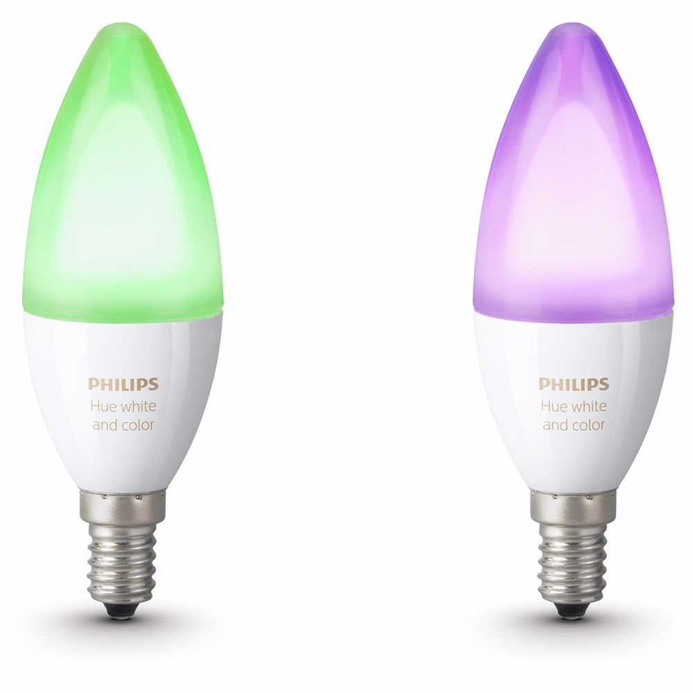 Philips Hue sfeerverlichting White & Color Ambiance E14 Duopak