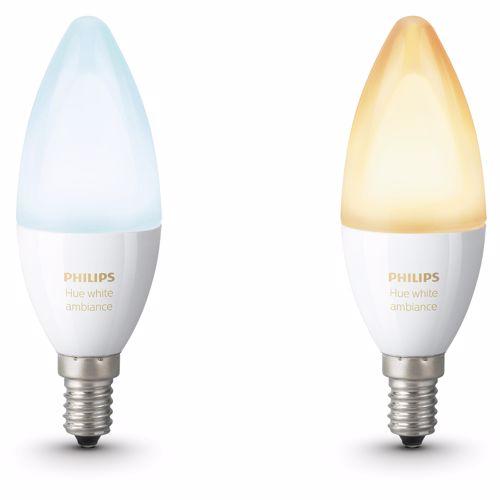 Philips Hue sfeerverlichting White Ambiance E14 Duopak