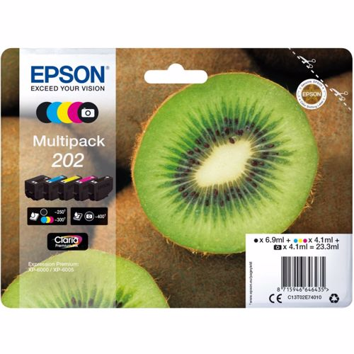 Epson cartridge Kiwi Multipack 5 Colours 202