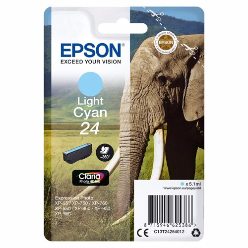 Epson cartridge 24 Claria Photo HD Ink Licht cyaan