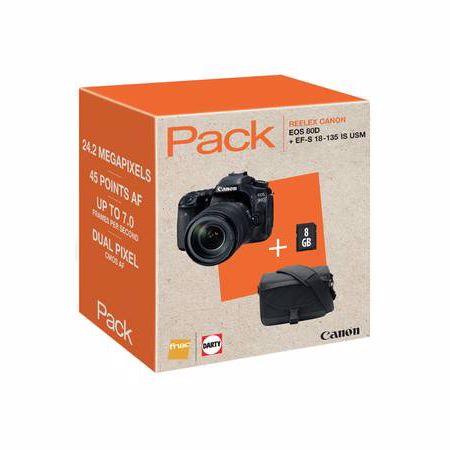 Canon spiegelreflexcamera EOS 80D+18 135 IS USM INCL. TAS en 8GB