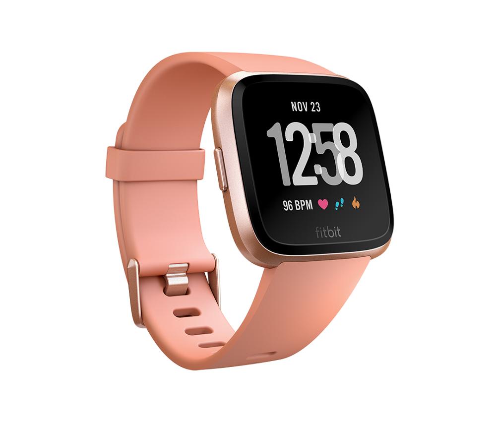 Fitbit smartwatch Versa (Peach / Rose-Gold Aluminium)