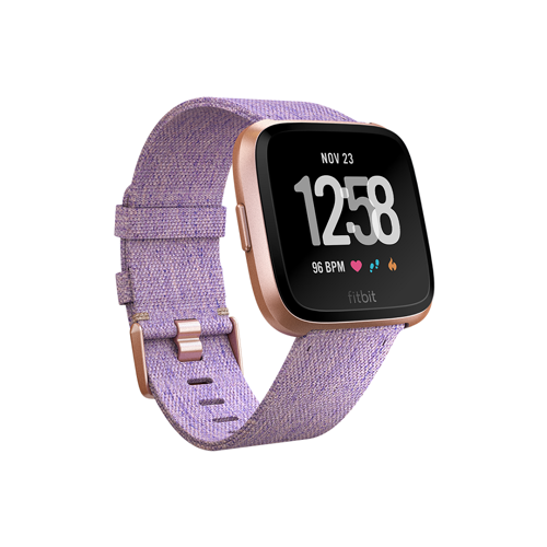 Fitbit smartwatch Versa (Lavender Woven / Rose Gold Aluminium)