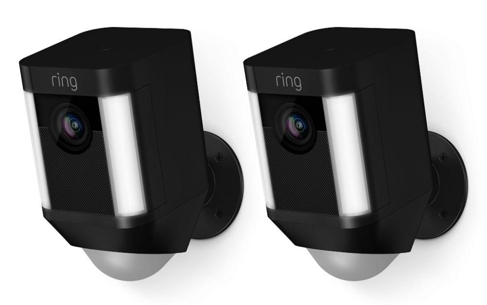 Ring IP camera Spotlight Cam Batterij Duopack Zwart