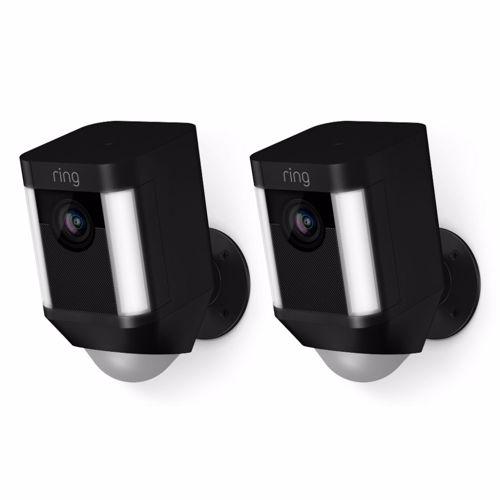 Ring IP camera Spotlight Cam Batterij Duopack (Zwart)