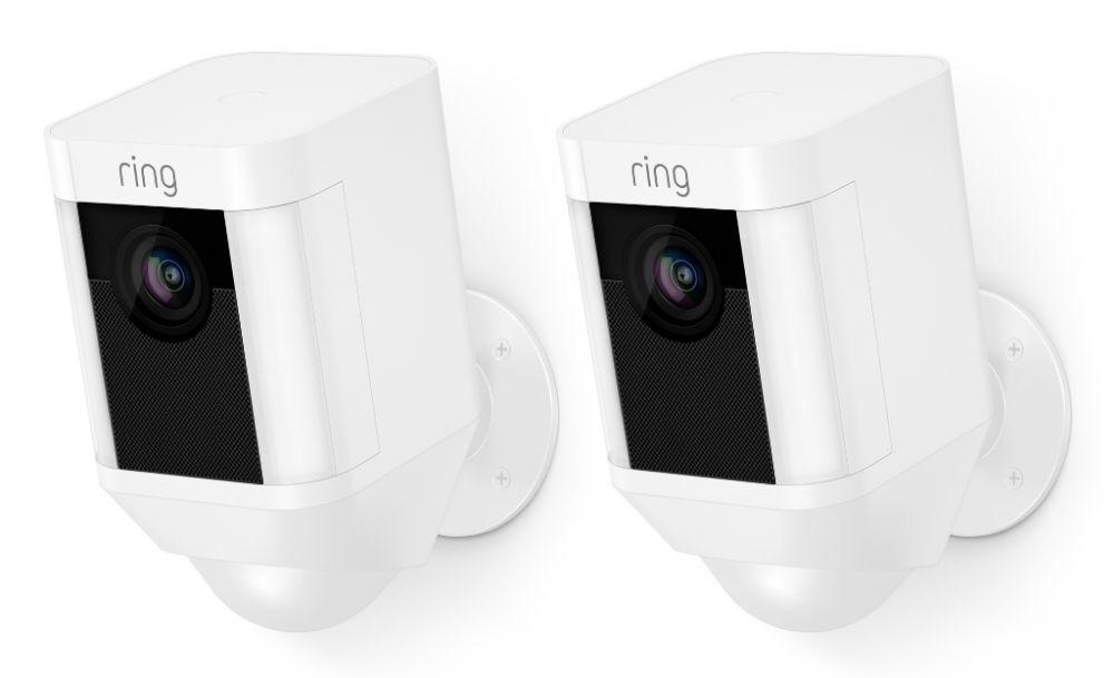 Ring IP camera Spotlight Cam Batterij Duopack Wit