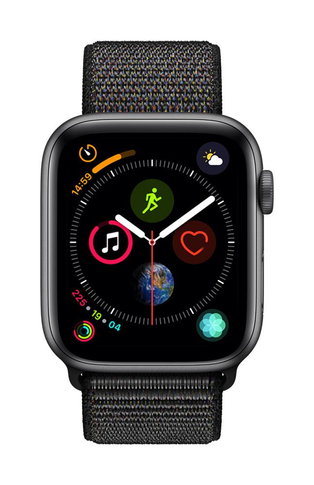 Apple smartwatch Serie 4 GPS 44 mm (Grijs) Geweven Sportband