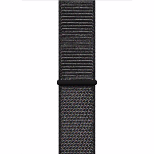 Apple Watch geweven sportbandje 44mm Medium Zwart