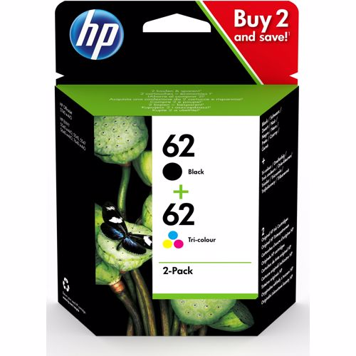 HP cartridge 62 2-pack (zwart + kleur)