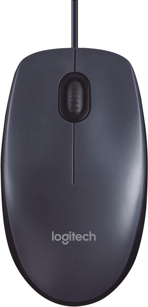 Logitech muis M100 (Zwart)