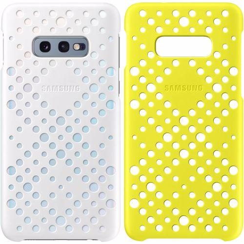 Samsung Pattern Cover voor Galaxy S10E 2 stuks Wit Geel