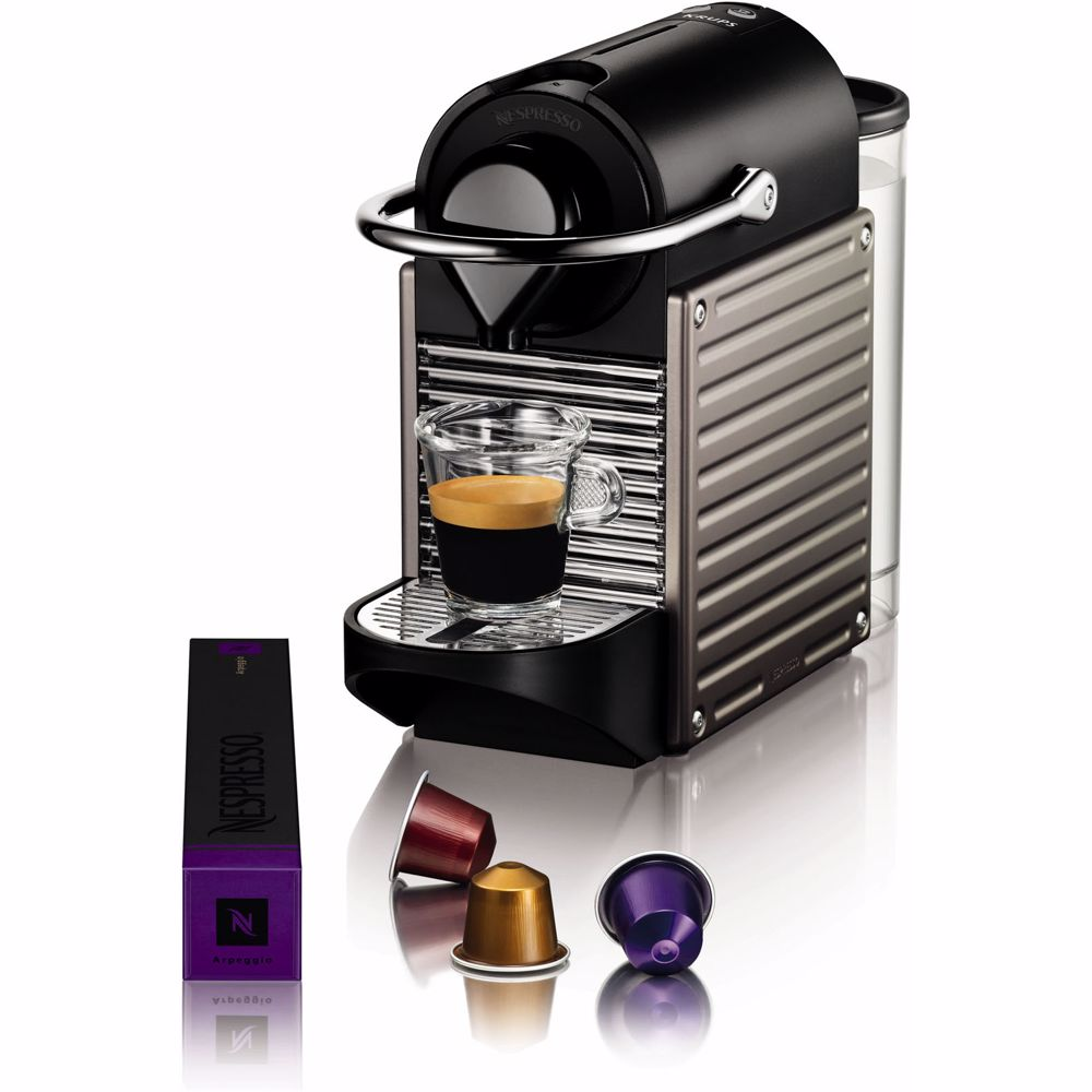 Nespresso Krups koffieapparaat Pixie XN304T (Titanium)