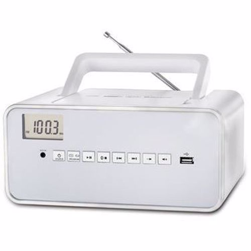 Dcybel portable radio Boom Box BT (Wit)