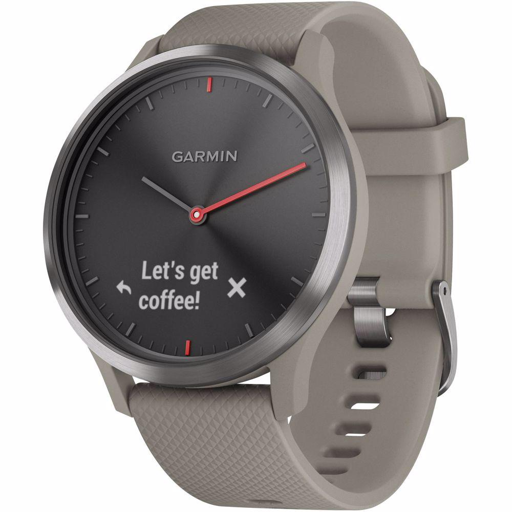 Garmin smartwatch Vivomove HR Sport (Zwart/Beige)