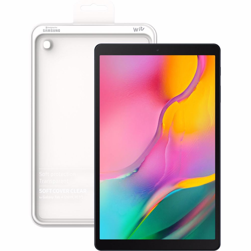 Samsung tablet Galaxy Tab A 10.1 2019 (Zwart) + Clear Cover