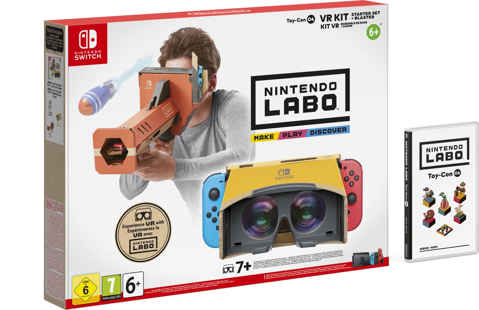 Nintendo Labo VR pakket Starterset Knaller
