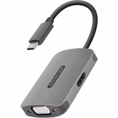 USB-C naar HDMI + VGA Adapter