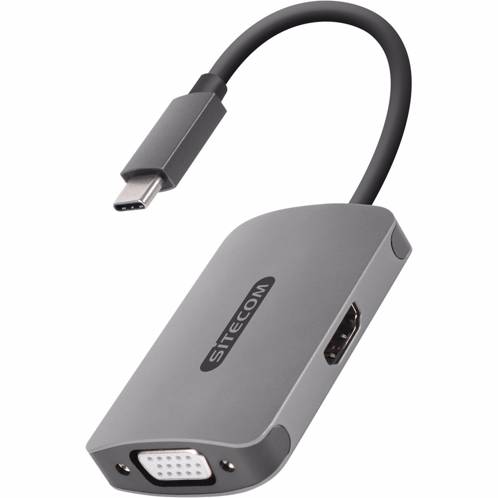 Sitecom CN-373 - USB-C naar VGA+HDMI adapter