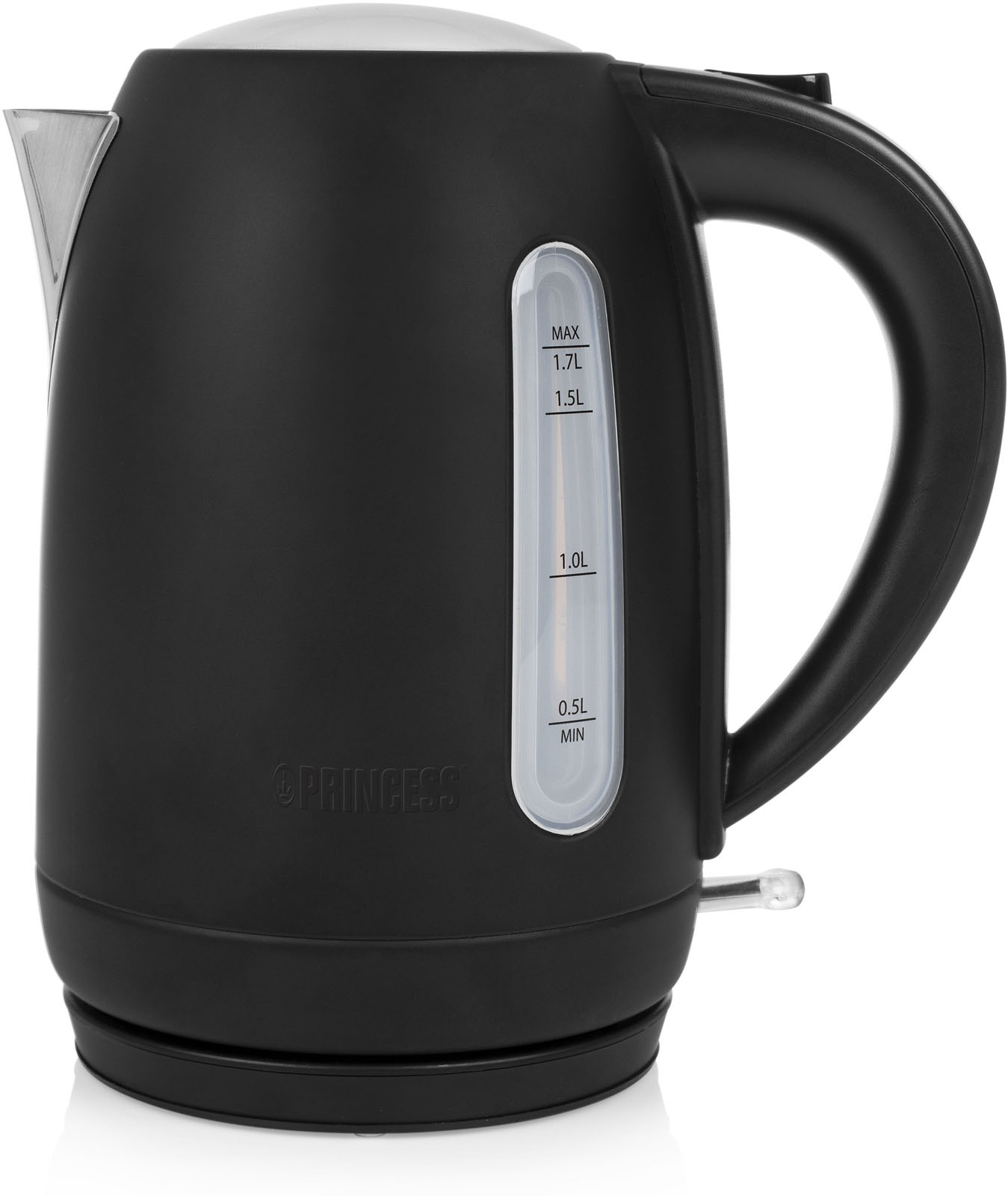 Princess waterkoker Black Steel 236032