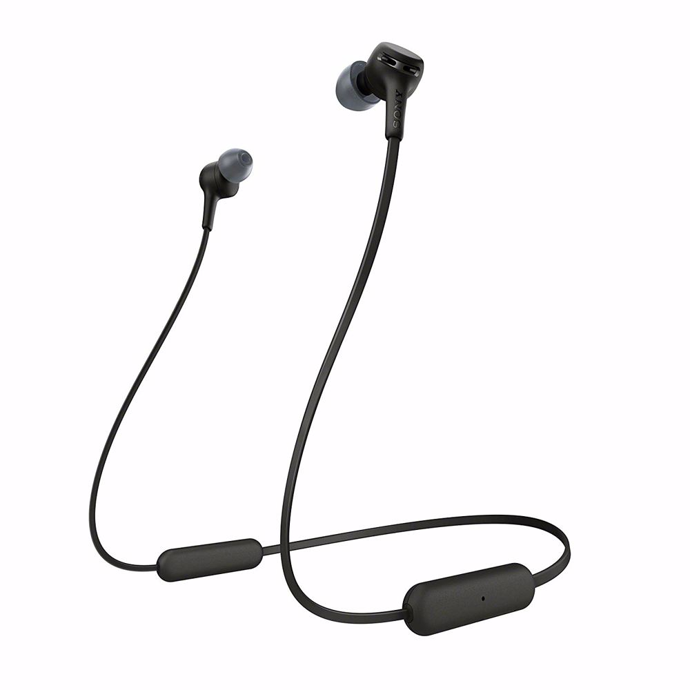 Sony draadloze hoofdtelefoon WI-XB400 (Zwart)