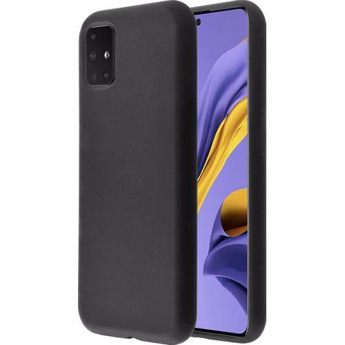 Azuri telefoonhoesje Galaxy A51 siliconen cover (Zwart)