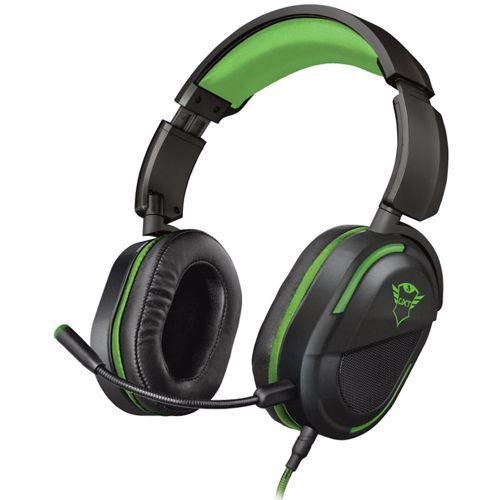 Trust GXT422G Legion Gaming headset 3.5 mm jackplug Kabelgebonden Over Ear Zwart, Groen