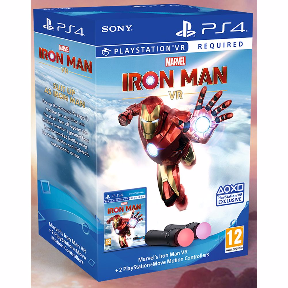Marvel's Iron Man VR PS4 + PlayStation Move twin pack Bundel