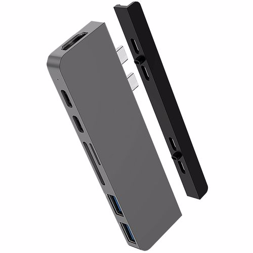 Hyper Duo Hub USB-C Zilver