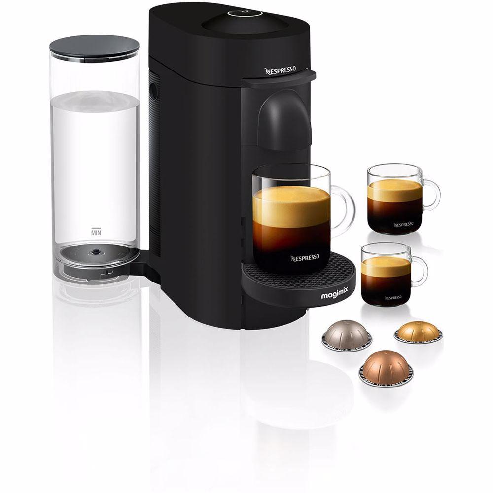 Nespresso Magimix koffieapparaat VertuoPlus Deluxe (Mat zwart)