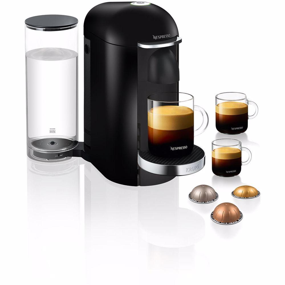 Nespresso Krups koffieapparaat VertuoPlus Deluxe Rond (Zwart)