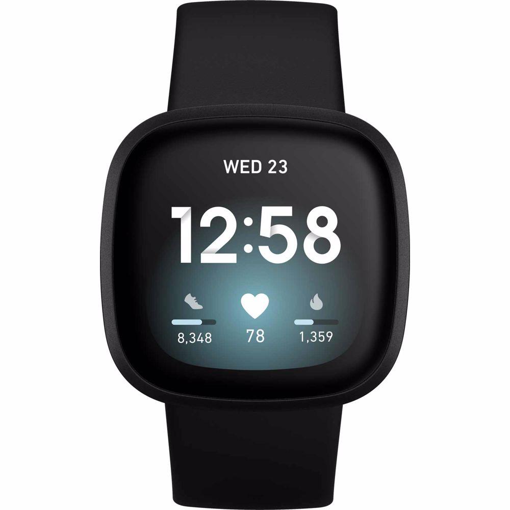 Fitbit smartwatch Versa 3 (Zwart)