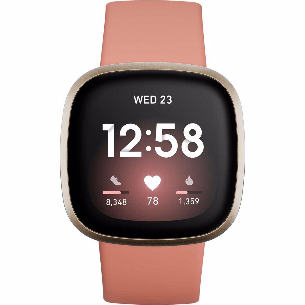 Fitbit smartwatch Versa 3 (Roze/Goud)