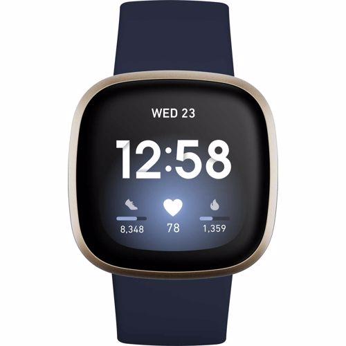 Fitbit Versa 3 Blauw-Goud