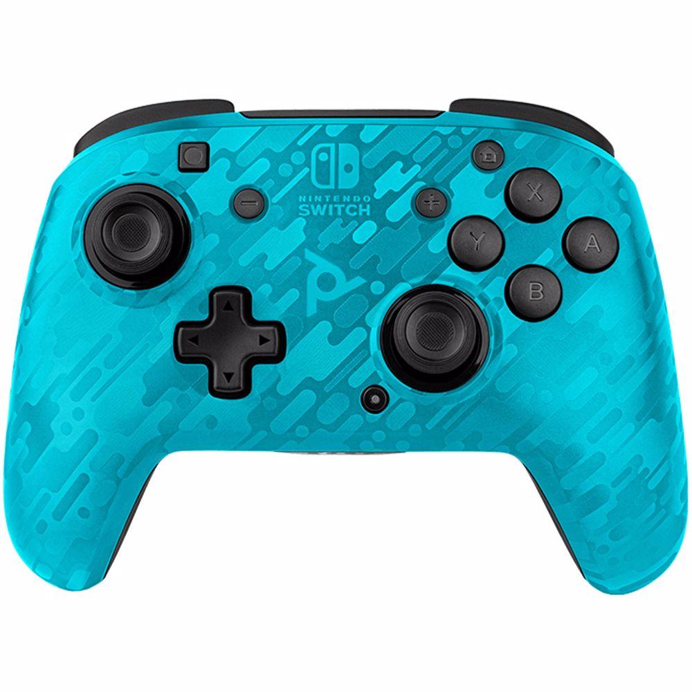 PDP draadloze gaming controller Faceoff Nintendo Switch (Blauw)