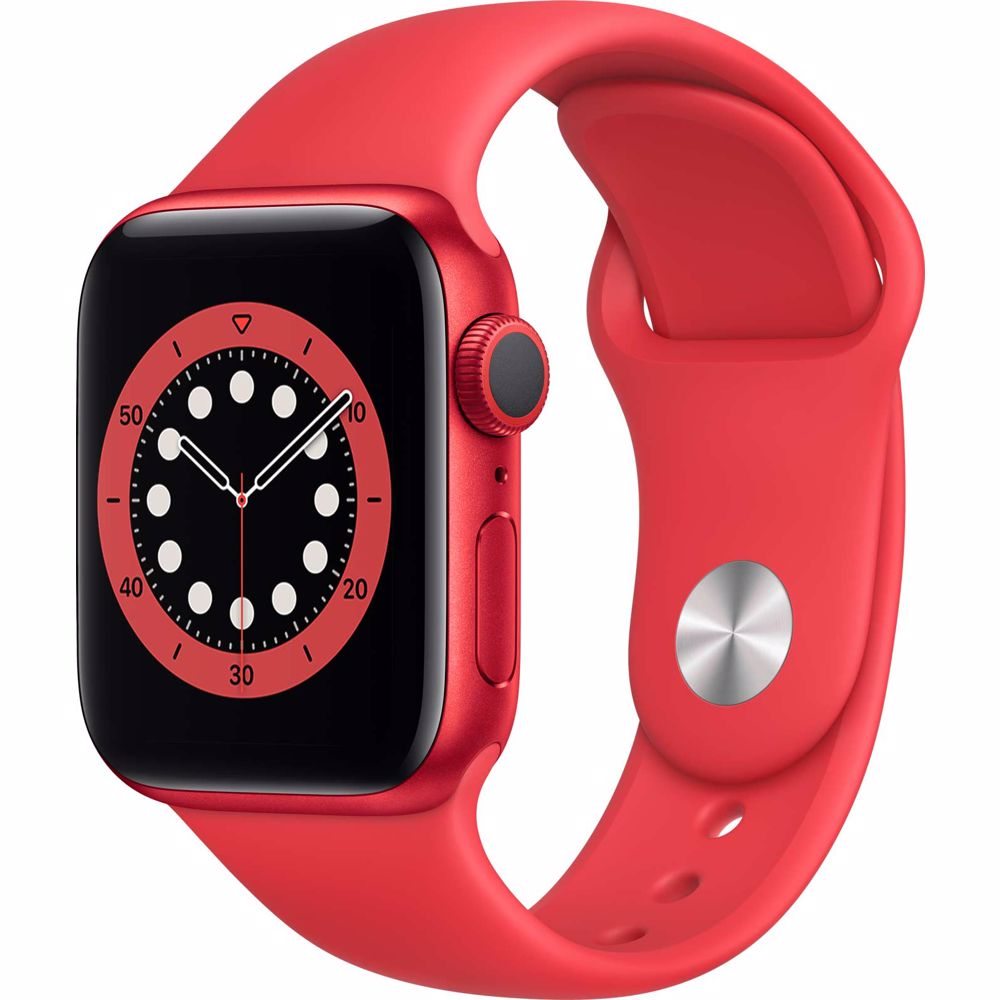 Apple Watch Series 6 GPS 40mm PRODUCT RED (Rood) Sportband