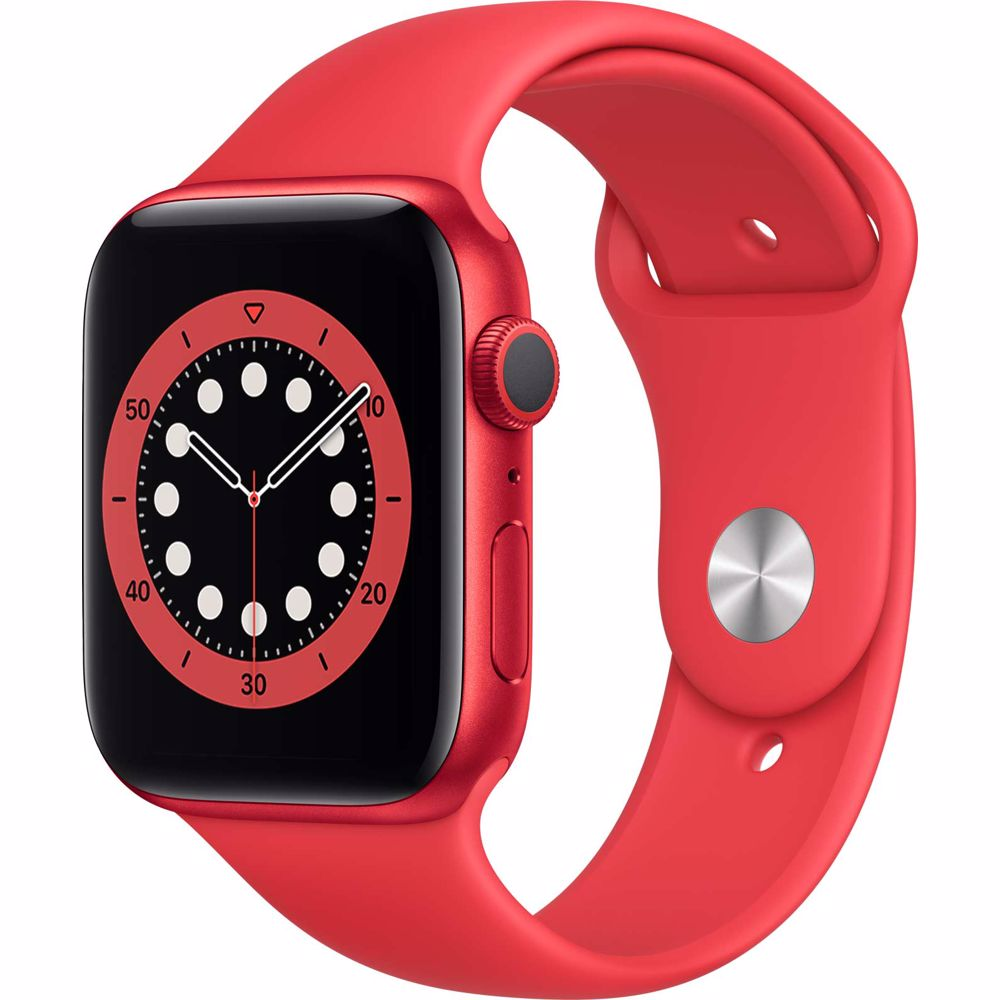Apple Watch Series 6 GPS 44mm PRODUCT RED (Rood) Sportband