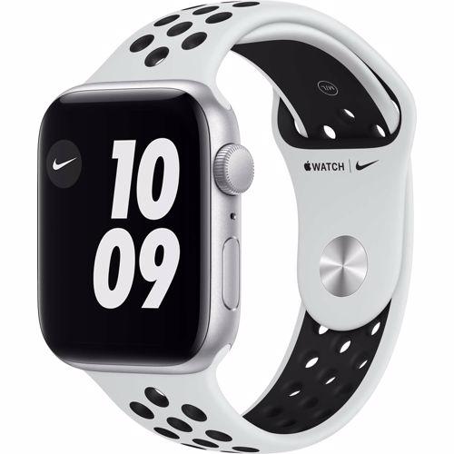 Apple Watch Nike SE GPS 44mm (Zilver) Sportband (Wit)