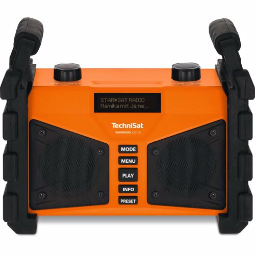 Foto van Technisat DAB+ FM radio Digitradio 230 OD Bluetooth (Oranje)