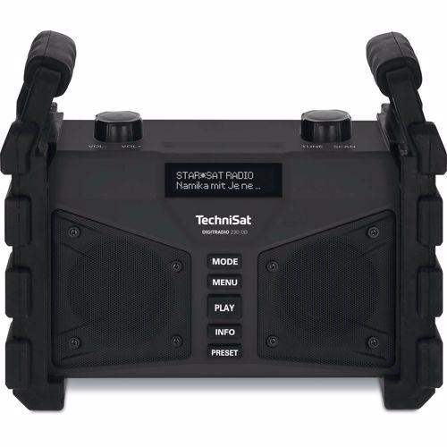 Foto van Technisat DAB+ FM radio Digitradio 230 OD Bluetooth (Zwart)
